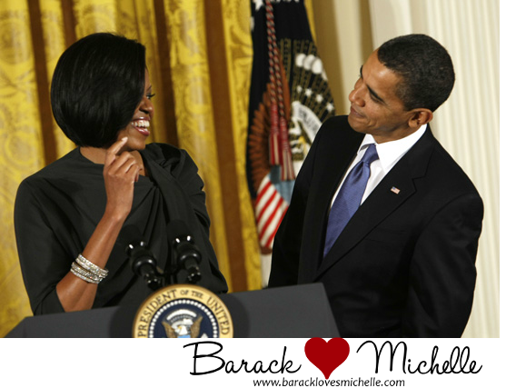 president obama flirting with michelle