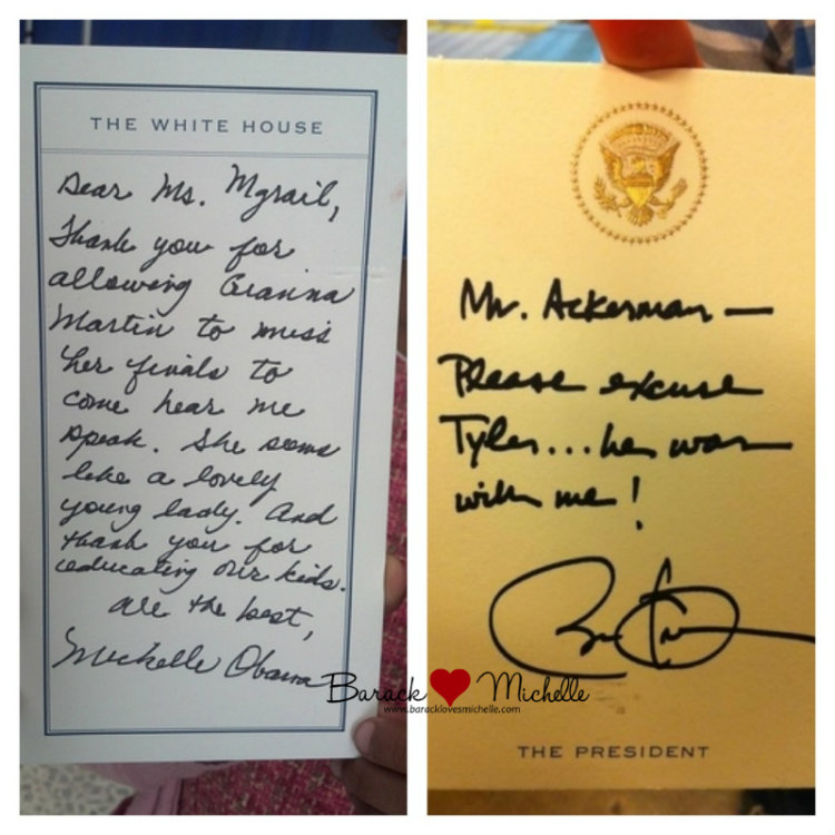 president first lady absence notes