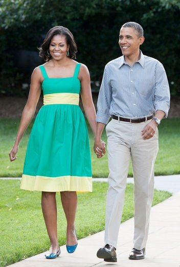 casual president obama first lady