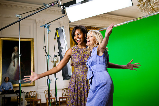 dr jill biden michelle obama joining forces