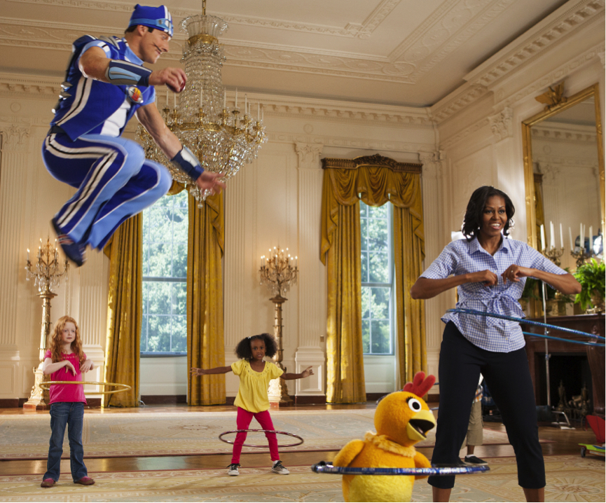 lazy town michelle obama