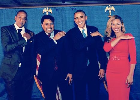 beyonce jay z obama