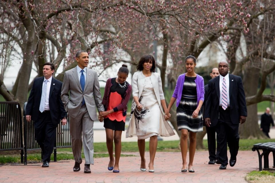 first family going to easter mass