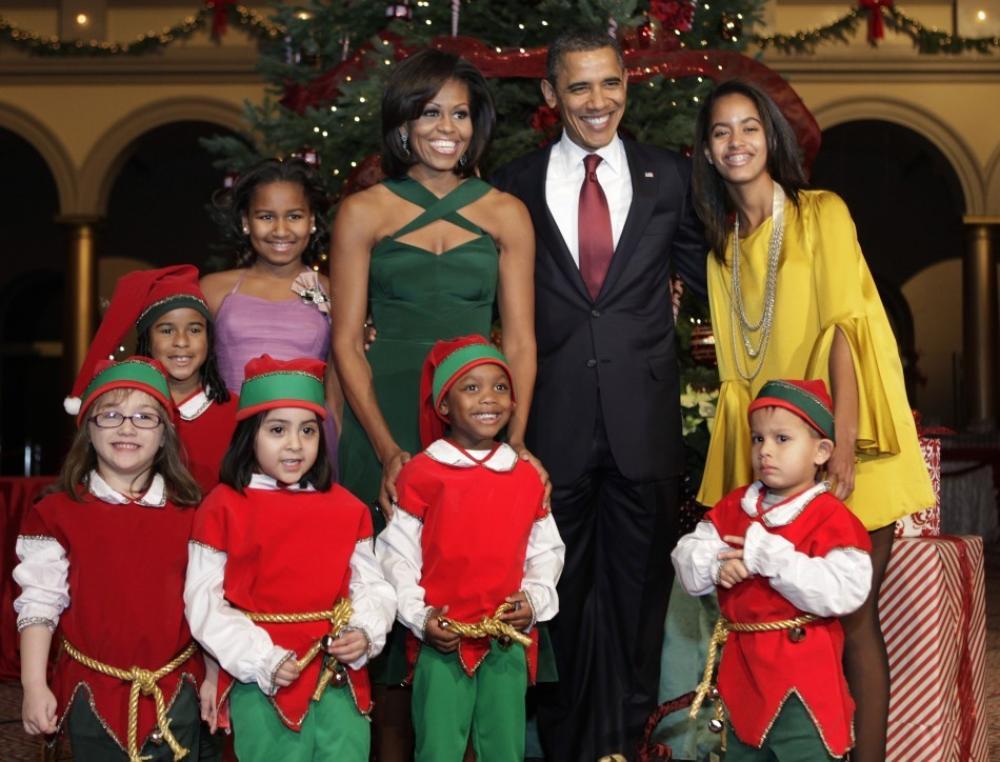michelle obama christmas in washington