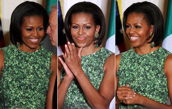 michelle obama green dress