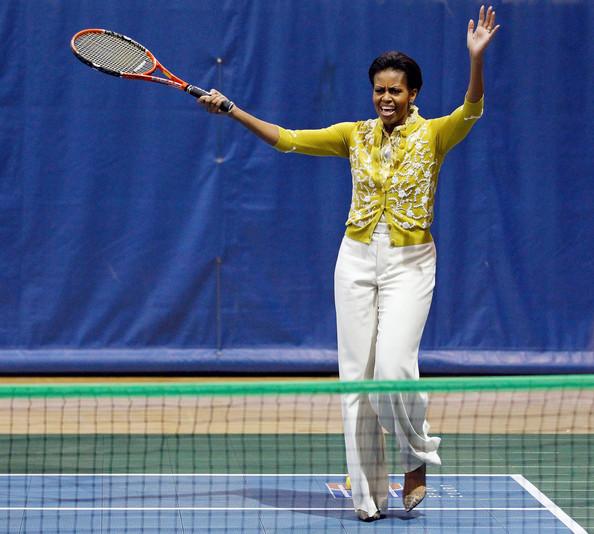 michelle obama tennis