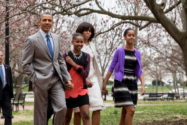 obama family easter mass