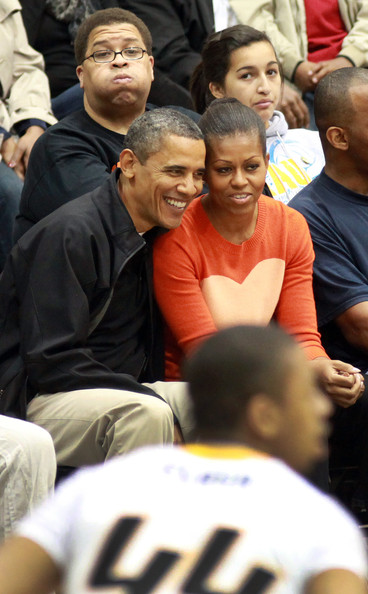 the obamas at oregon state game