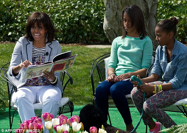 first lady reading easter egg roll