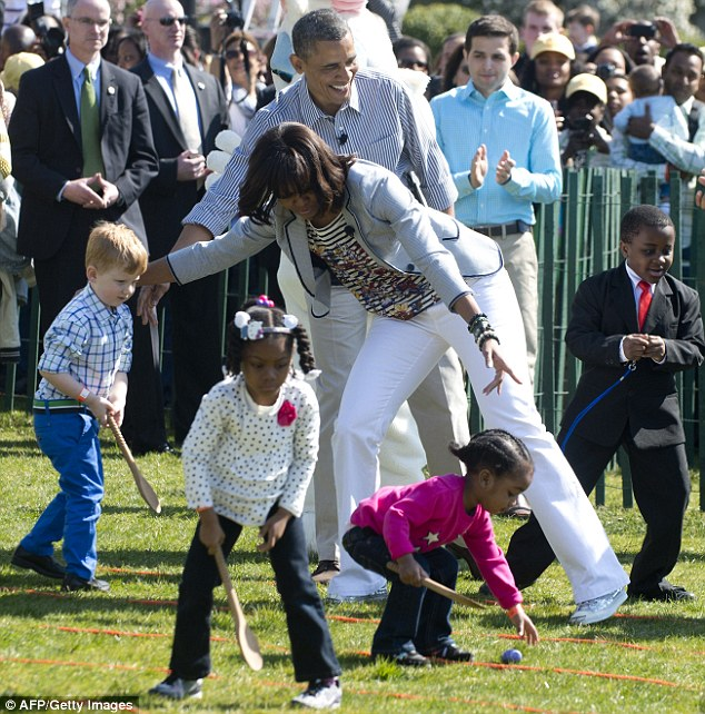 michelle easter egg roll