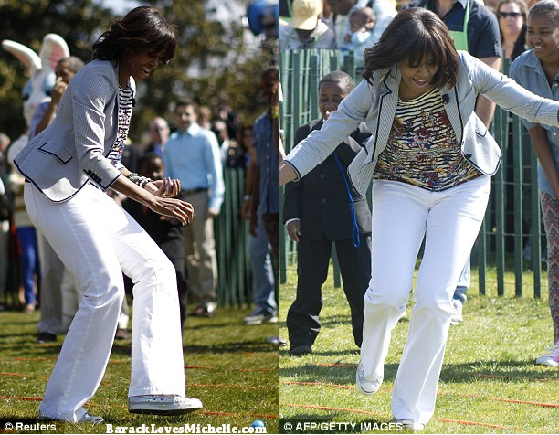michelle obama easter egg roll