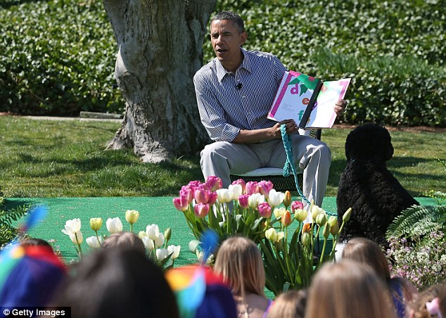 president obama reading easter egg roll