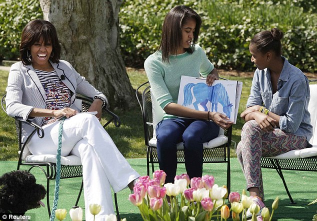sasha malia reading easter egg roll