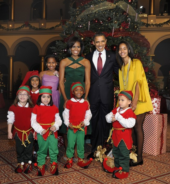 Obama And First family Attend Christmas In Washington