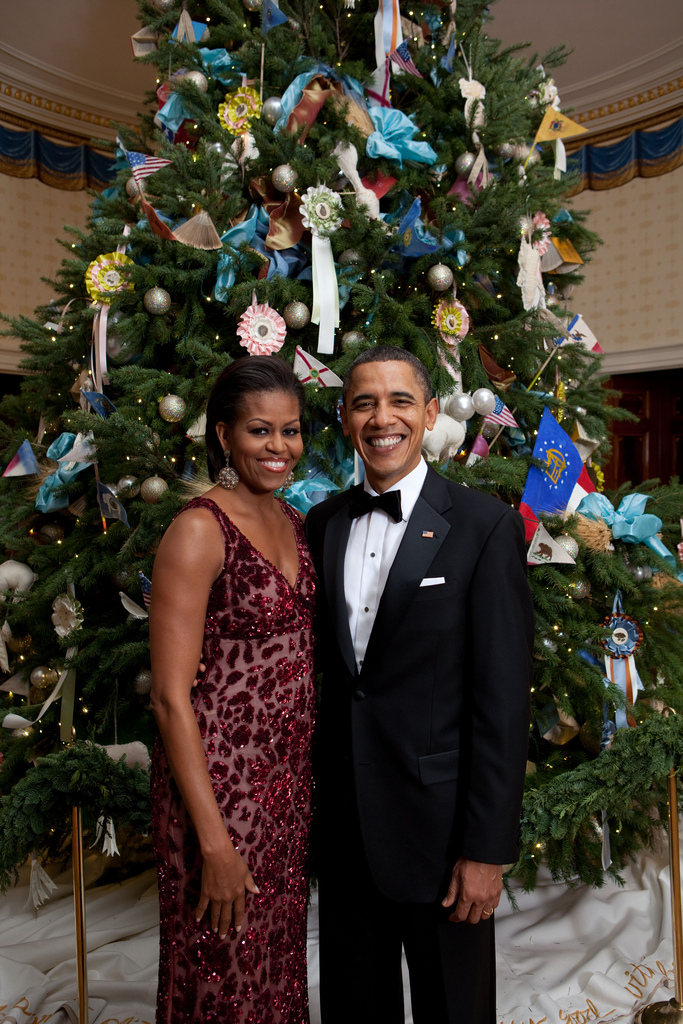 first lady and potus christmas 2010