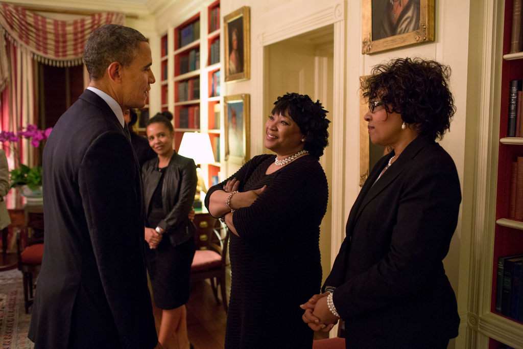 president obama nelson mandela daughters