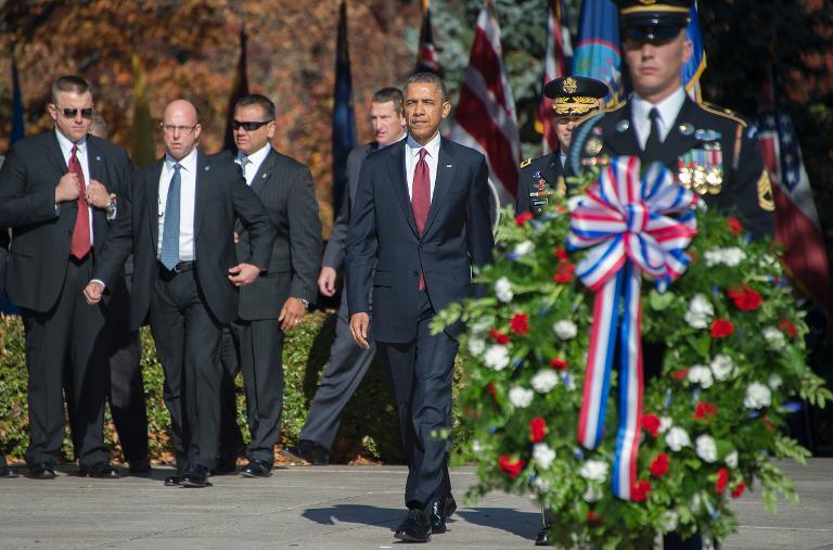 president obama veterans day