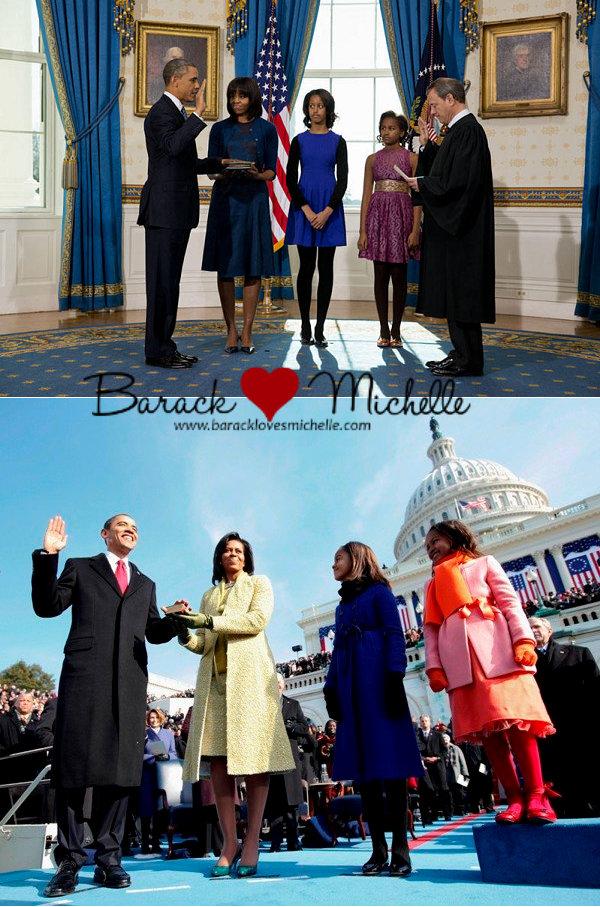 2008 2012 presidential swearing in