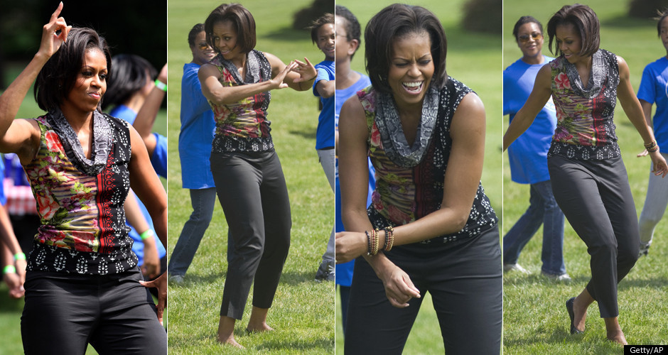 MICHELLE-OBAMA-dancing white house