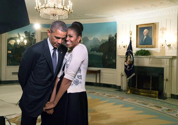 barack michelle obama love