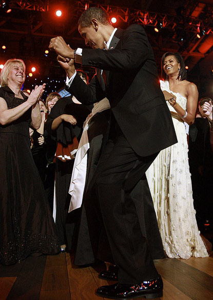 barack obama dancing
