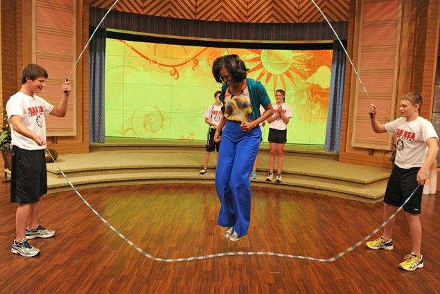 first lady michelle obama double dutch