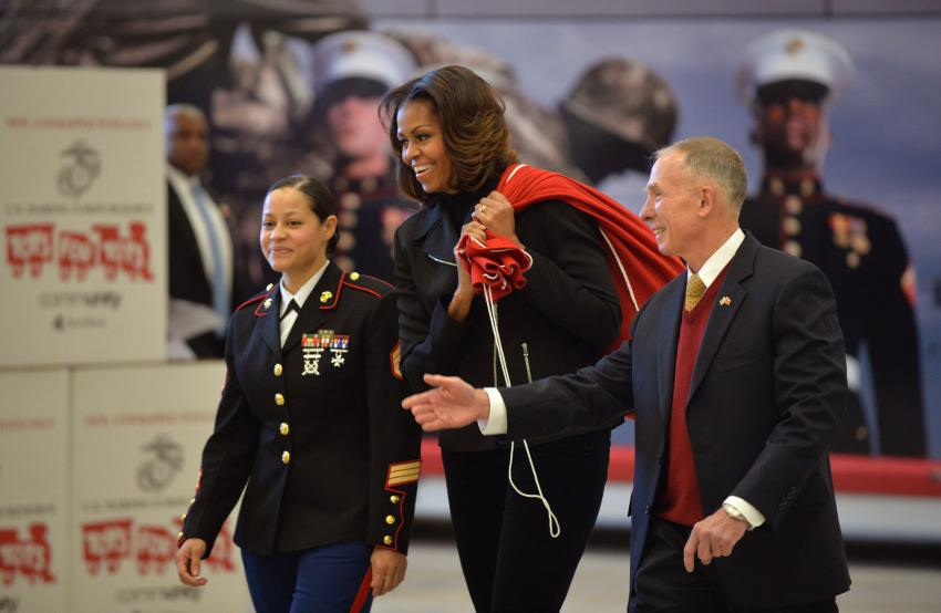 first lady toys for tots