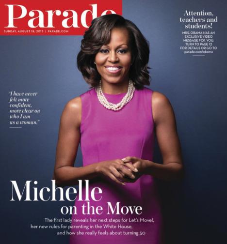 michelle obama august parade magazine