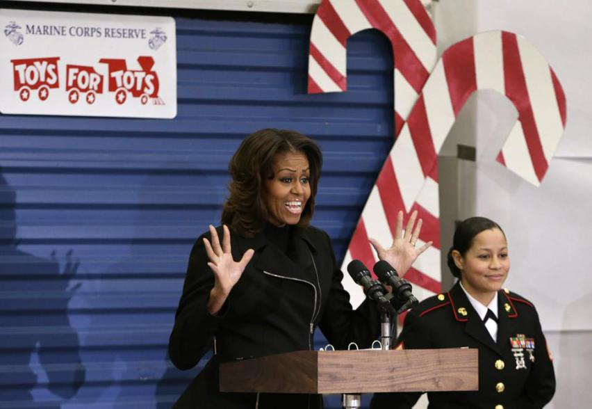 michelle obama toys for tot