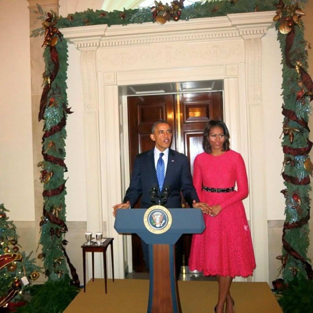 president first lady white house christmas party