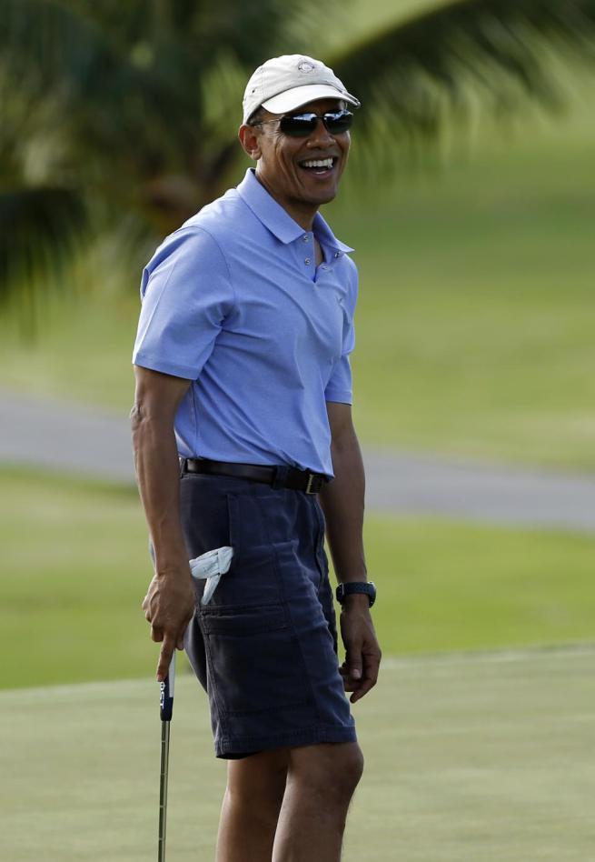 president obama golf hawaii