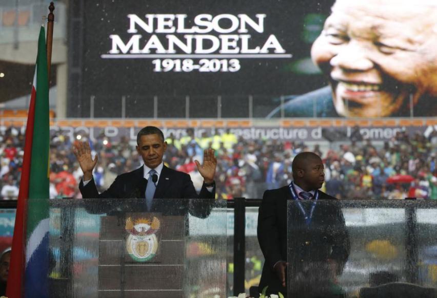president obama mandela memorial