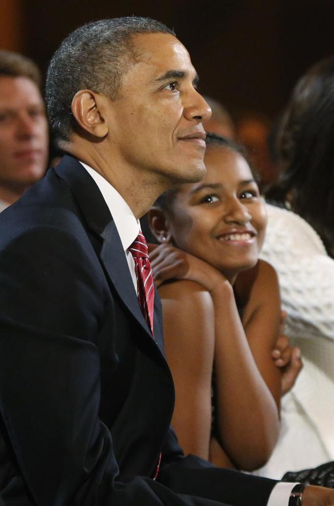 president obama sasha 2013
