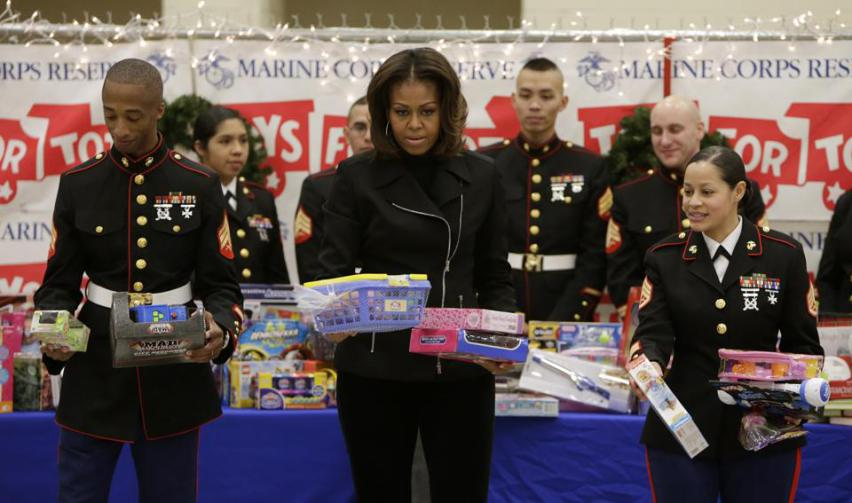 toys for tots michelle obama
