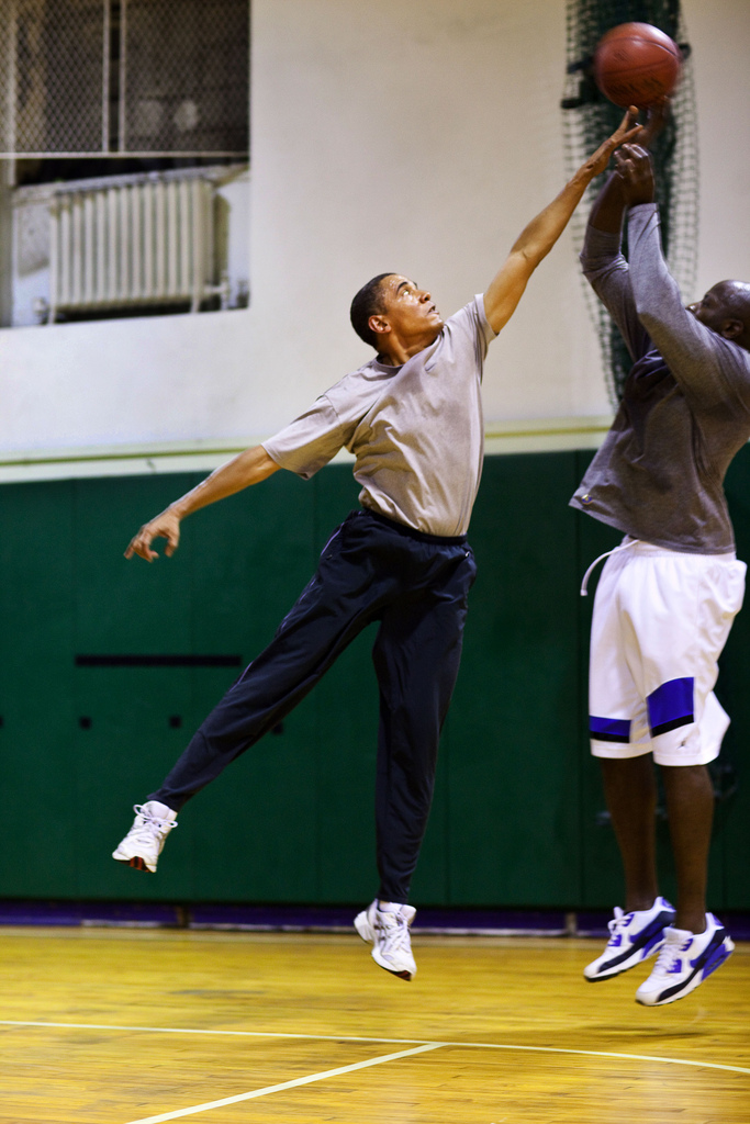 barack obama reggie love basketball