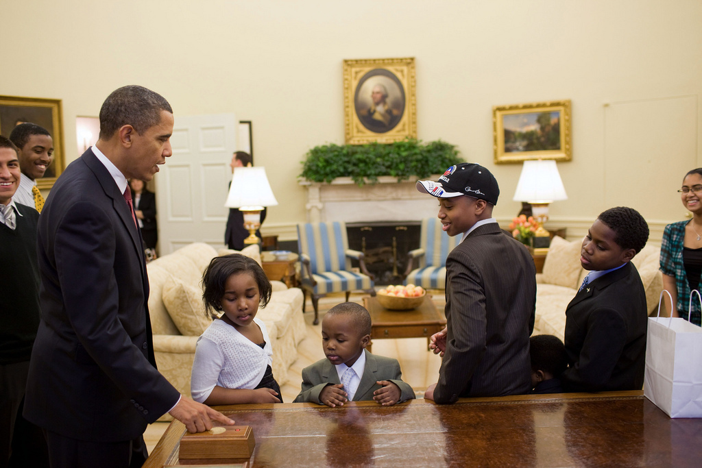 children in the oval office
