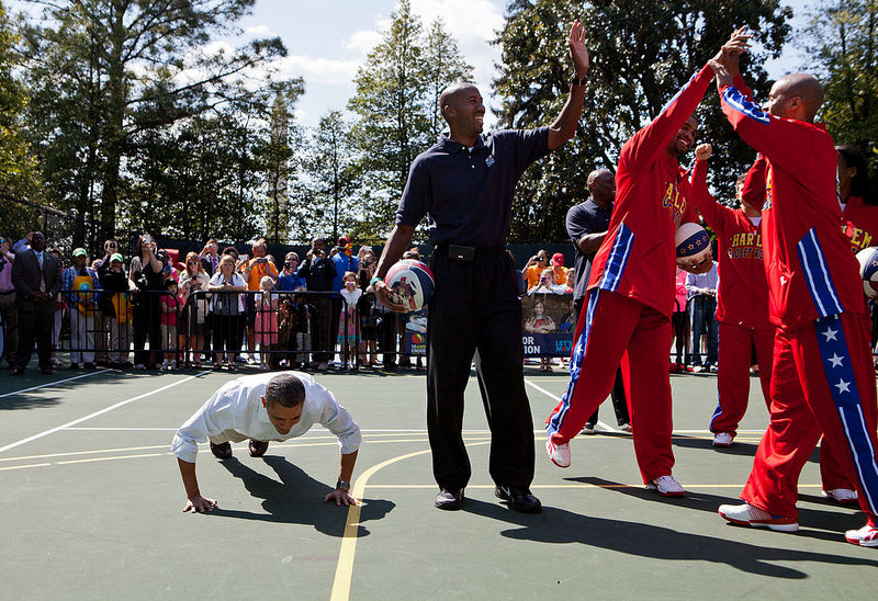 obama harlem globetrotters