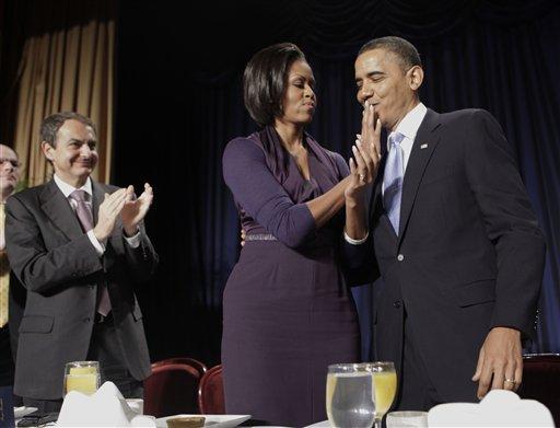 Barack Obama, Michelle Obama, Jose Luis Rodriguez Zapatero