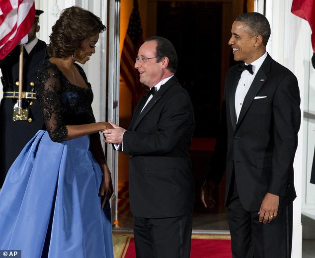 Barack Obama, François Hollande, Michelle Obama