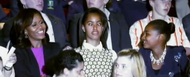 michelle malia sasha obama