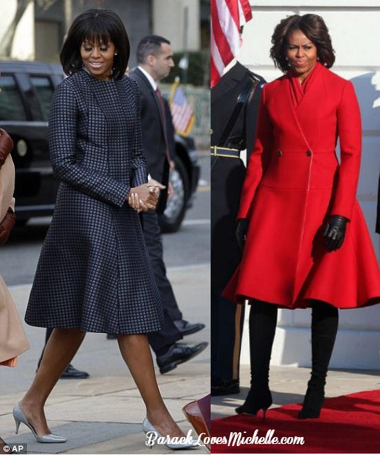 michelle obama in thom browne coats