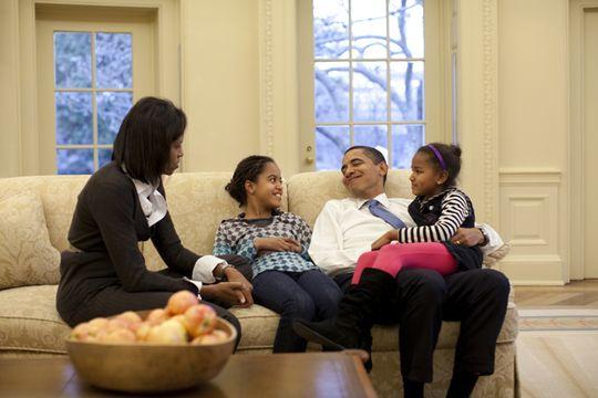 obama family oval office