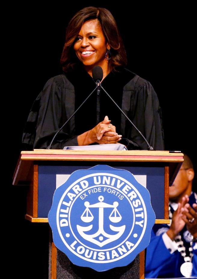 michelle obama dillard university