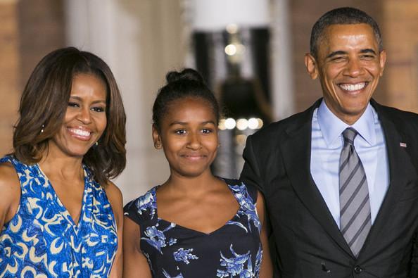 The Obamas Attend the Marine Barracks Evening Parade