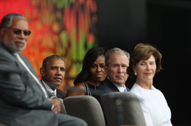 Barack Obama, Michelle Obama, George W Bush, Laura Bush